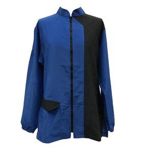 Trimshirt, lange mouw navy blauw/zwart
